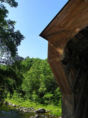 Photograph - Detail Upper Falls Covered Bridge by Georgia Hamlin