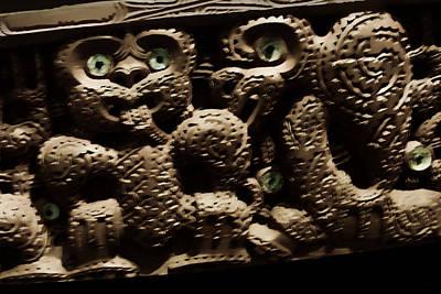 Detailed Aborigine Carving Original by Linda Phelps