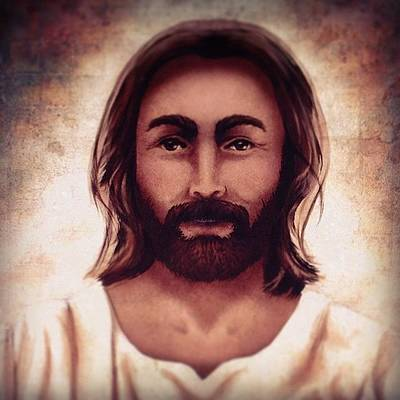 Portrait Of Jesus Art Print