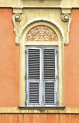 Photograph - Detailed Window Of Rome by David Letts