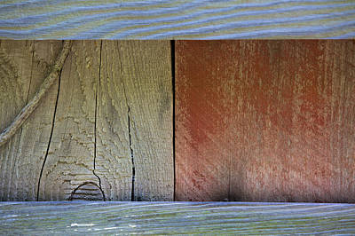 Photograph - Details Of A Weathered Barn Door by David Letts