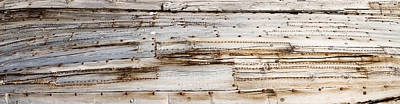Details Of An Old Whaling Boat Hull Art Print by Panoramic Images