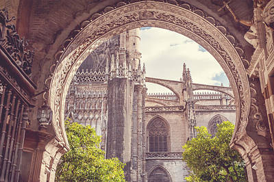Photograph - Details Of Giralda Architecture. Seville by Jenny Rainbow