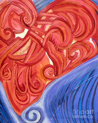 Painting - Details Of The Heart by L Cecka