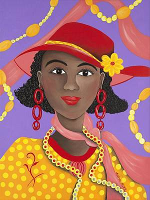 Gullah Art Painting - Determined by Patricia Sabree