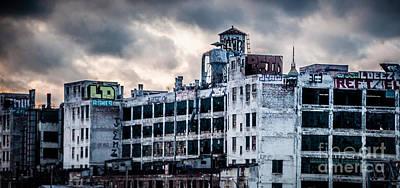 Photograph - Detroit Abandon Building by Ronald Grogan