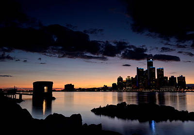 Detroit And Windsor Art Print by Cale Best
