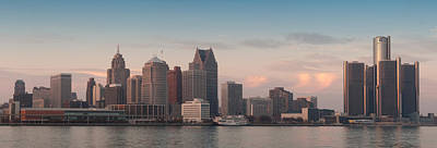 Detroit At Dusk Art Print by Andreas Freund