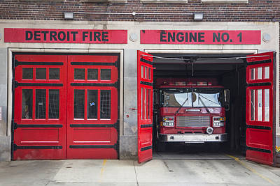 Photograph - Detroit Fire Engine Number 1 by John McGraw
