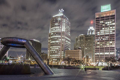 Photograph - Detroit Fountain And Cityscape by John McGraw