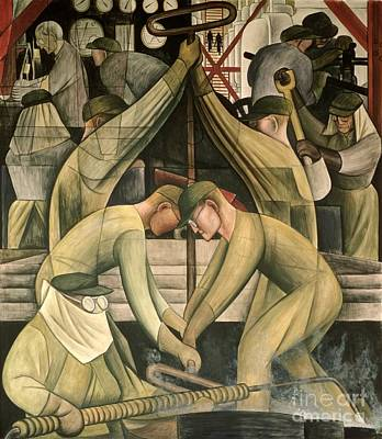 Production Painting - Detroit Industry  South Wall by Diego Rivera
