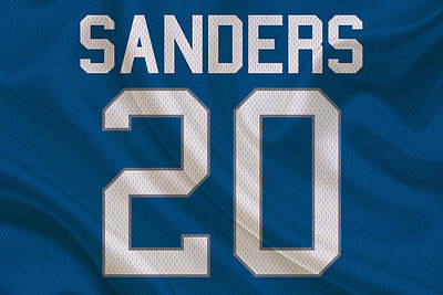 Detroit Lions Barry Sanders Art Print by Joe Hamilton