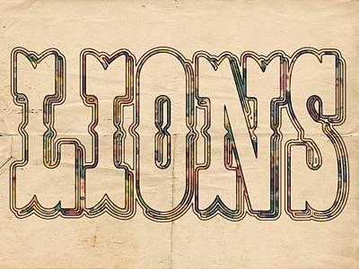 Detroit Painting - Detroit Lions Logo Vintage by Florian Rodarte