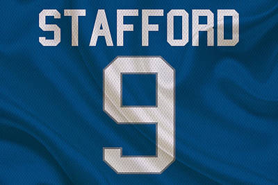 Detroit Lions Matt Stafford Art Print