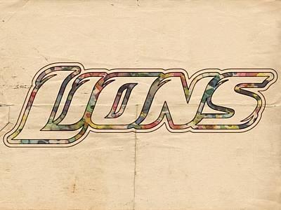 Detroit Painting - Detroit Lions Poster Art by Florian Rodarte