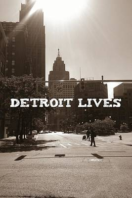 Motown Digital Art - Detroit Lives Forever #1 by Brittany Ware