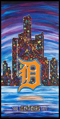 Detroit Motor City Original by Lance Graves