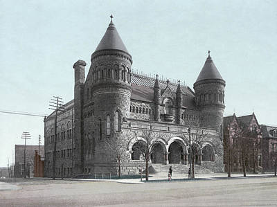 1900 Architecture Painting - Detroit Museum, C1900 by Granger