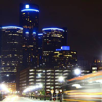 Detroit Night Scape Art Print
