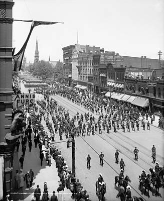 Marching Band Photograph - Detroit Parade, C1905 by Granger