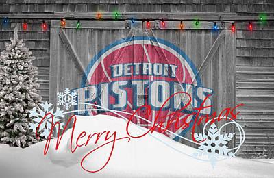 Detroit Pistons Print by Joe Hamilton