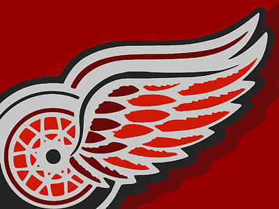 Ice Hockey Painting - Detroit Red Wings by Tony Rubino