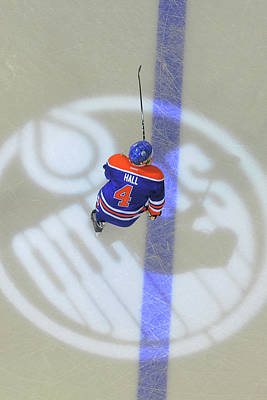 Photograph - Detroit Red Wings V Edmonton Oilers by Andy Devlin