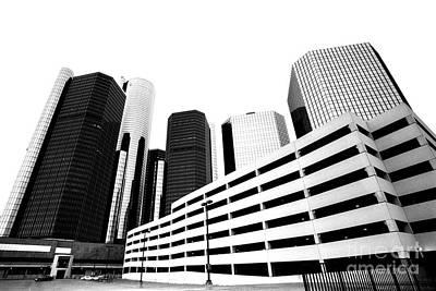 Photograph - Detroit Ren Cen by Steven Dunn