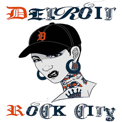 Detroit Tigers Art Digital Art - Detroit Rock City  by Respect the Queen