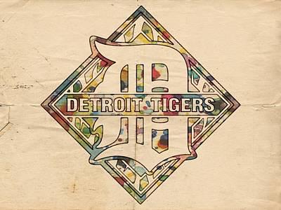 Detroit Painting - Detroit Tigers Poster Art by Florian Rodarte