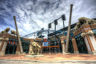 Tiger Stadium Photograph - Detroit Tigers Stadium Entrance by Shawn Everhart