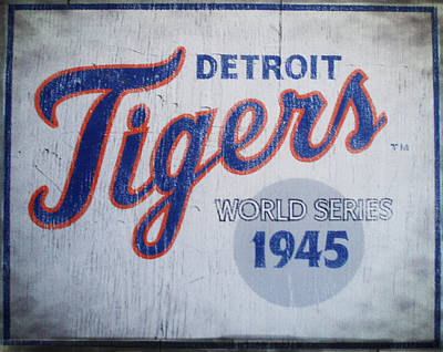 Detroit Tigers Digital Art - Detroit Tigers Wold Series 1945 Sign by Digital Reproductions