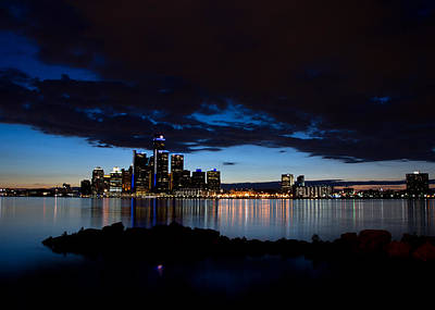Ontario Photograph - Detroit Twilight by Cale Best