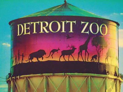 Michigan Detroit Zoo Photograph - Detroit Zoo Watertower by Dotti Hannum