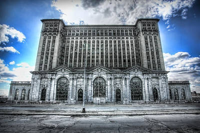Unsafe Digital Art - Detroit's Abandoned Michigan Central Train Station Depot by Gordon Dean II