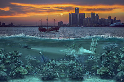 Photograph - Detroit's Under Water by Nicholas  Grunas