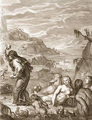 Deucalion And Pyrrha Repeople The World Art Print by Bernard Picart