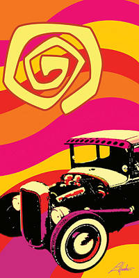 Digital Art - Deuce Coupe by Larry Hunter