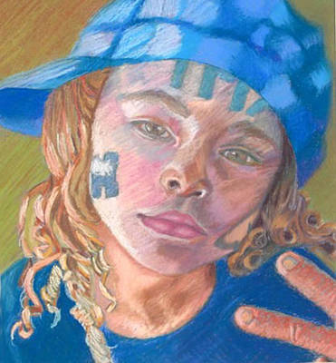 Drawing - Deuces by Phyllis Anne Taylor Pannet Art Studio