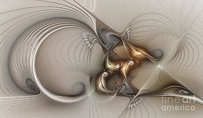 Fractal Geometry Digital Art - Deus Ex Machina by Karin Kuhlmann