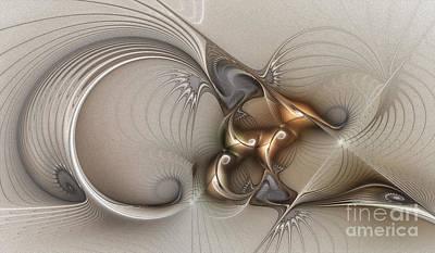 Geometric Abstraction Digital Art - Deus Ex Machina by Karin Kuhlmann