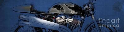 Deus Motorcycle Cut Art Print by Pablo Franchi