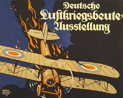 Airplane Drawing - Deutsche Luftkriegsbeute Ausstellung by Siegmund von Suchodolski