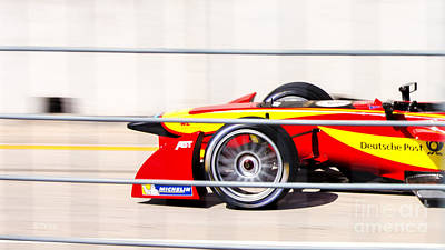 Photograph - Deutsche Post Race Team Miami Eprix by Rene Triay Photography