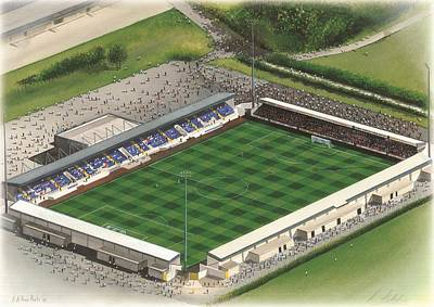 Sports Paintings - Deva Stadium - Chester City by Kevin Fletcher
