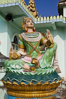 Deva Statue In Myanmar Style Molding Art  Art Print