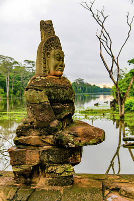 Deva Photograph - Devas Statues, Bridge To Angkor Thom by Douglas Peebles