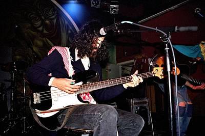Photograph - Devendra Banhart Playing Bass Guitar by Gary Smith