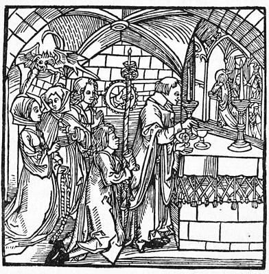 Painting - Devil, 1498 by Granger