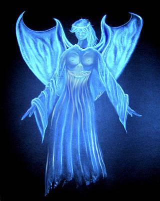 Devil An Angel Print by William  Paul Marlette